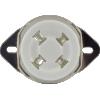 Socket - 4 Pin, Ceramic, Chassis Mount image 2