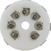 Socket -7 Pin, Miniature, Standoff Ceramic PC Mount image 2