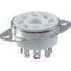 "Socket - 8 pin octal, Fork Connectors, 1"" with Bracket image 1"