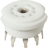 Socket - 9 Pin, Ceramic, PC Mount, with center shield image 1