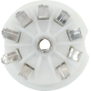 Socket - 9 Pin, Ceramic, PC Mount, with center shield image 3