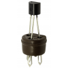 Transistor Socket - Cinch, 3 Pin, Phenolic, NOS image 1