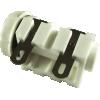 "Jack - Cliff, 1/4"", White, Solder Lug image 2"