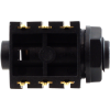 """Jack - Rean, 1/4"""", Stereo, 3-Pole Horizontal, Switched, Plastic Nut, PC image 3"""