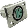 Jack - Switchcraft, premium XLR, 3-Pin, rectangular panel-mount image 1