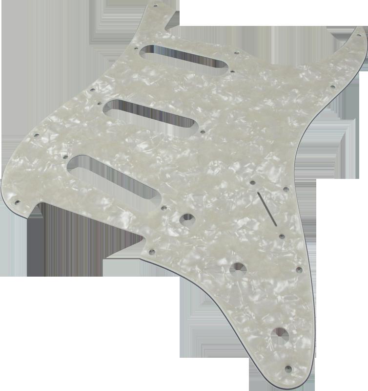Fender 099-1360-000 Standard Stratocaster for 3 Single Coil Pickups 3-Ply White 11 Hole
